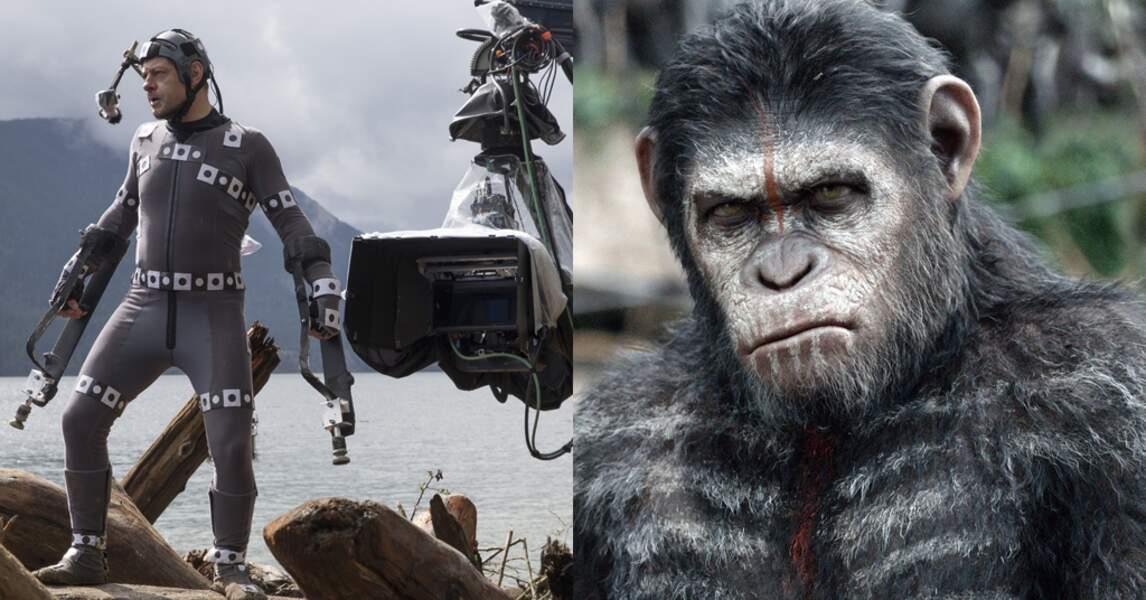 Andy Serkis en César adulte pour La planète des singes : l'affrontement (2014) de Matt Reeves