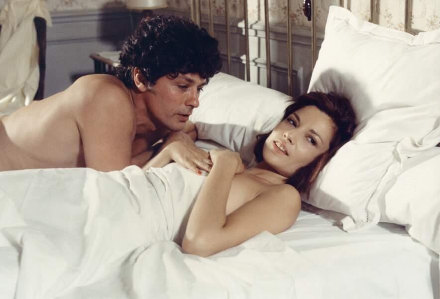"""Un vraie histoire d'amitié s'est liée avec Nicole Calfan depuis """"Borsalino"""" en 1970. Ici """"Le gang"""" (1977)"""
