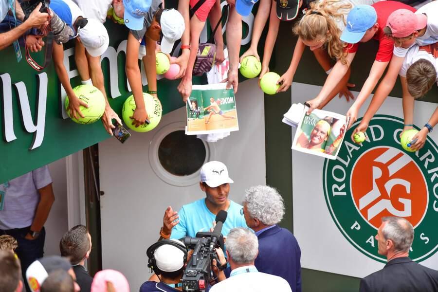 Médias, fans... Rafael Nadal ne sait plus où donner de la tête