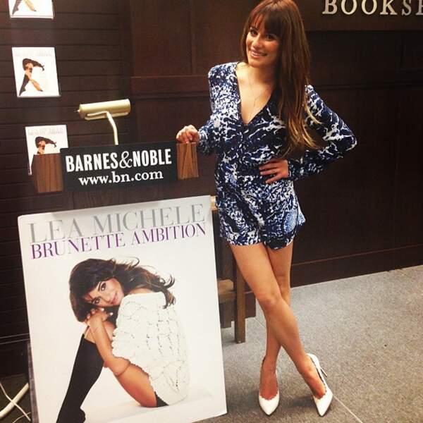 Pendant ce temps, Lea Michele enchaîne les séances promo