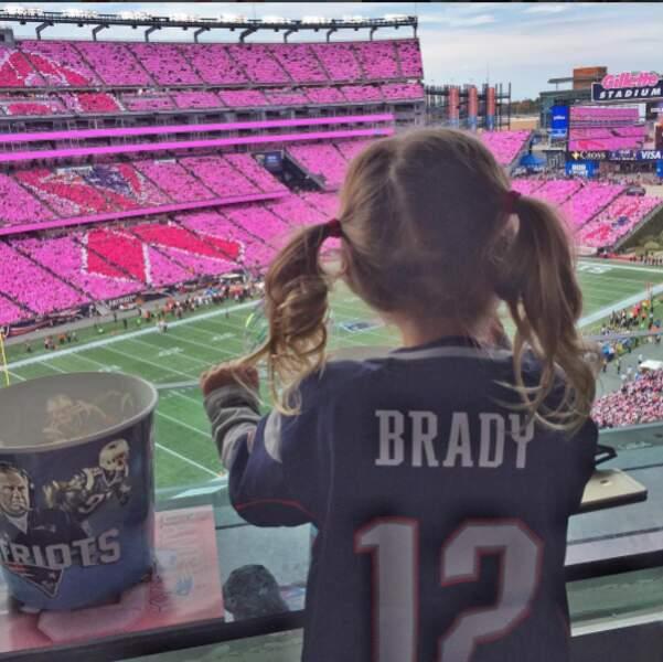 Le footballeur pourra en tout cas compter sur le soutien des siens pour le Super Bowl ce weekend