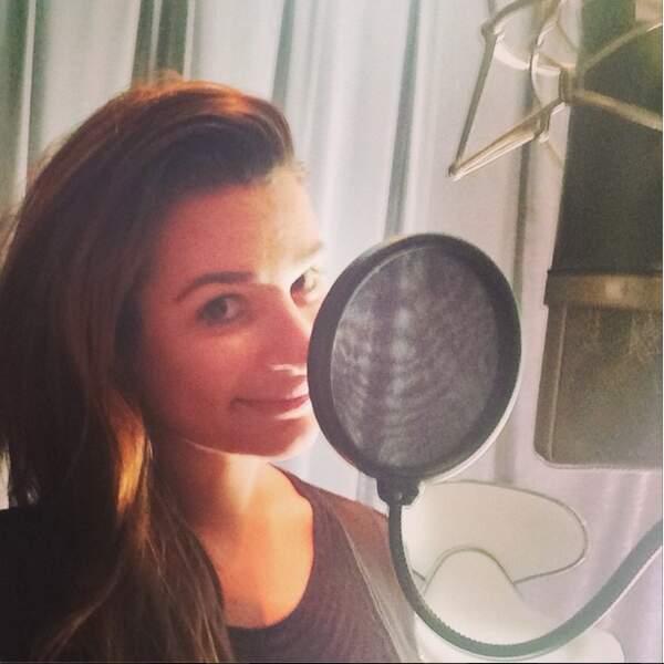 ... Lea Michele, elle, retourne en studio !