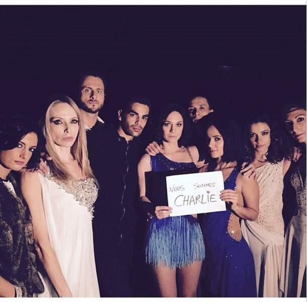 """... les participants de la tournée Danse avec les stars, tous ont publié le message """"Je suis Charlie"""""""