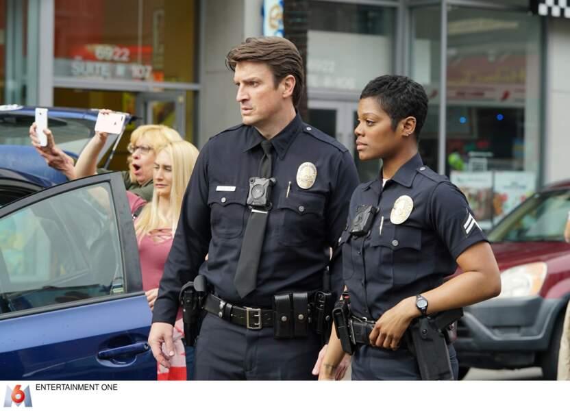 Talia Bishop (Afton Williamson) doit faire équipe avec lui et devient son instructeur