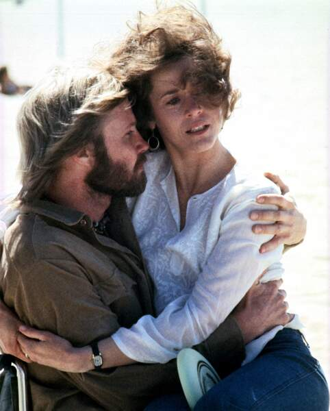 John Voight et Jane Fonda dans Le Retour, un film de Hal Ashby, en 1978