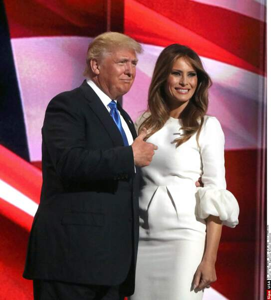Melania Trump, épouse du 45è président, sera la première étrangère (elle est slovène) à endosser le rôle