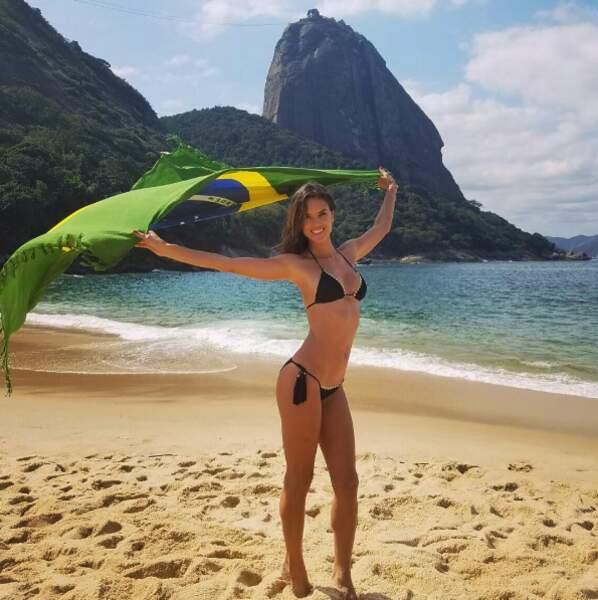 Car c'est le début des J.O à Rio de Janeiro ! Alessandra Ambrosio est trop fière de son pays.