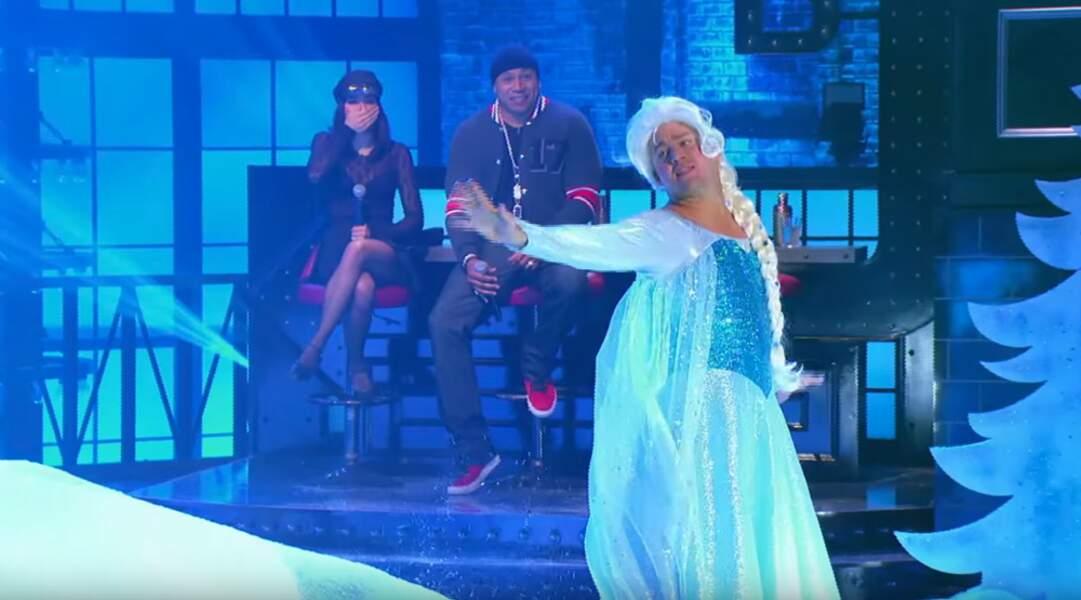 Avant de devenir... Elsa, la Reine des Neiges pour une émission de télévision américaine