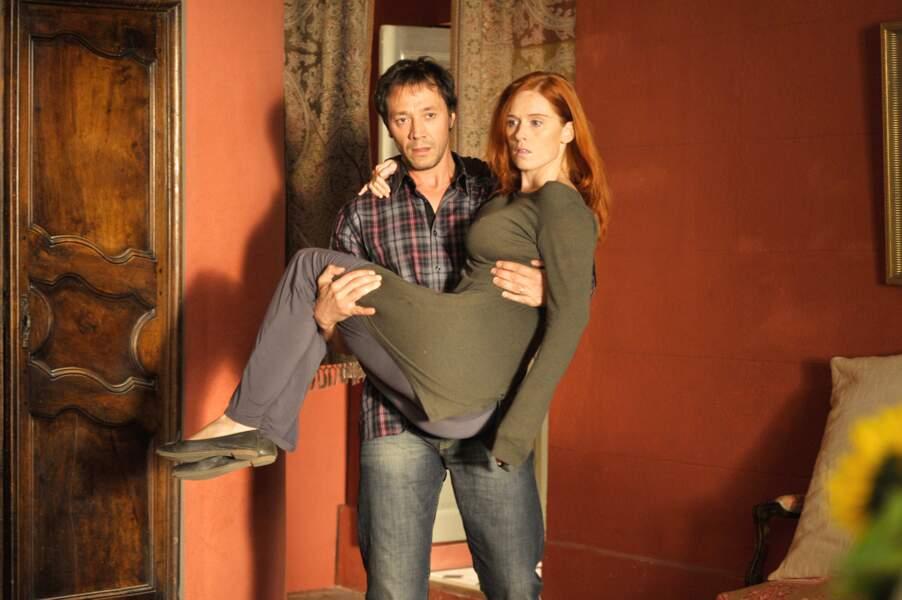 La vie en miettes (TV 2010) : Audrey Fleurot et Bruno Debrandt, deux personnalités de la télé