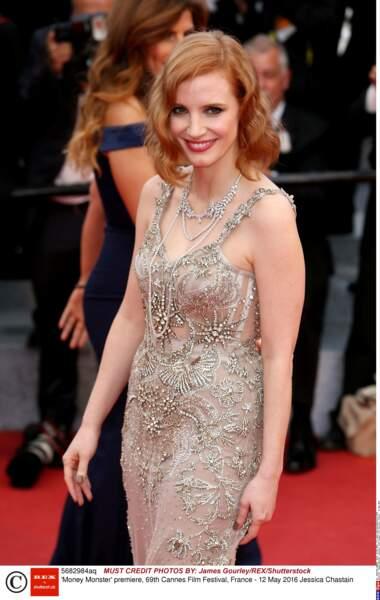 Jessica Chastain dans une robe féerique