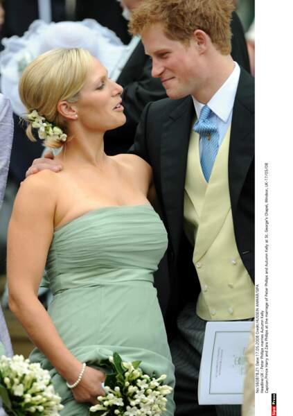 Avec sa cousine chérie, Zara Philips, Harry partage l'amour du rugby, de la bière et de la franche poilade