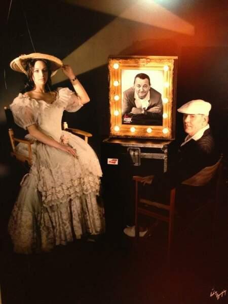 Natasha St-Pier et Maxime Leforestier au musée Grévin... Ah non ! Ce sont Les Enfoirés !