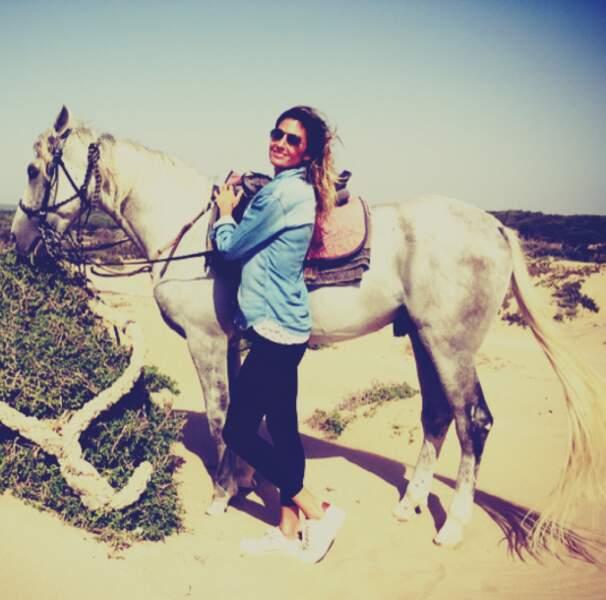 Caroline Ithurbide de Touche pas à mon poste, en séjour au Maroc...
