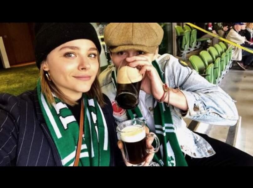 L'actrice Chloë Moretz et l'apprenti photographe Brooklyn Beckham.
