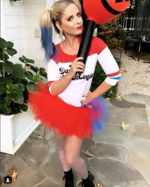 Sarah Michelle Gellar déguisée en Harley Quinn