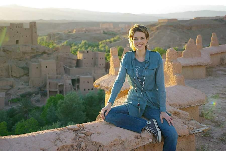 De 2007 à 2012, Julie Andrieu a parcouru le monde dans Fourchette et sac à dos. Ici, au Maroc