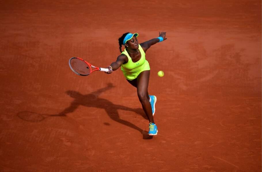 Point fashion N°2 : l'Américaine Sloane Stephens a misé sur une robe couleur balle de tennis.