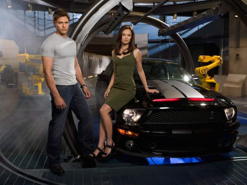 Knight Rider. Cette Ford Mustang Shelby GT500 KR 2007 noire a été modifiée par le showrunner de Taxi Brooklyn (TF1)