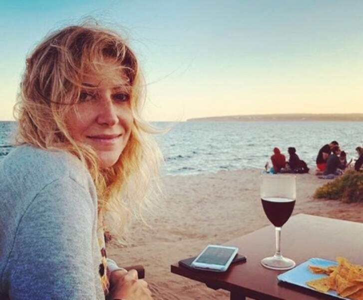 La vue d'Amanda Sthers n'était pas mal non plus à Formentera.