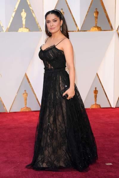 Salma Hayek, tout le charme latino sur le red carpet