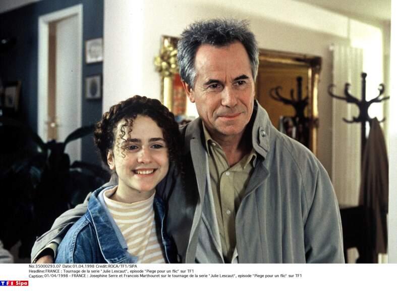 Ici avec son papa dans la série, l'acteur François Marthouret