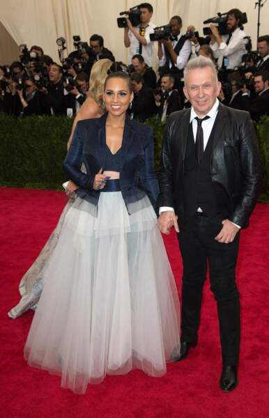 Un couple improbable côté look : Alicia Keys et Jean-Paul Gaultier !