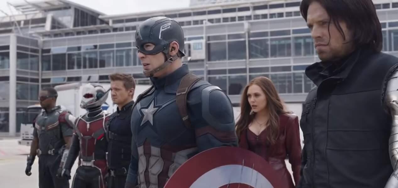 La Team Captain America se compose de :