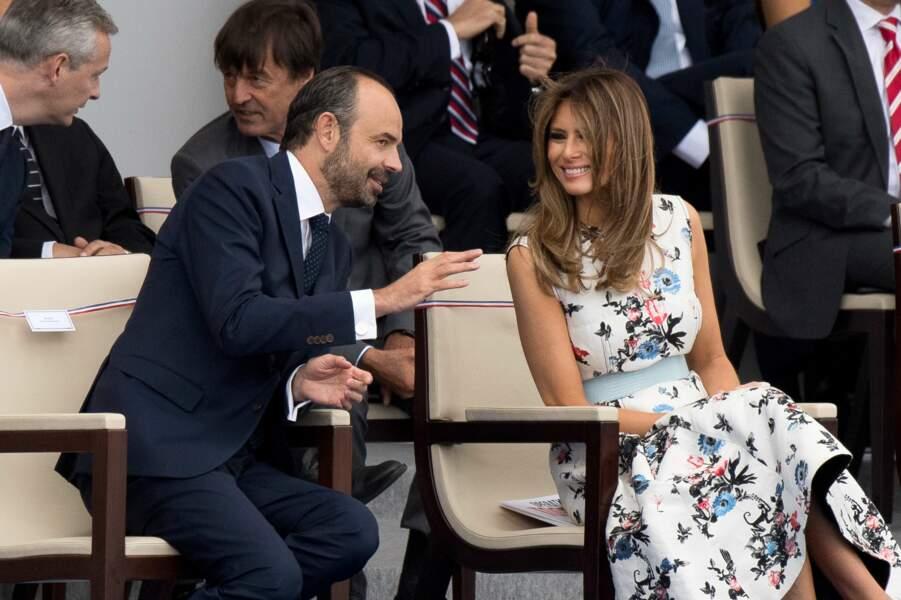 Edouard Philippe a aussi fait la conversation avec Melania Trump