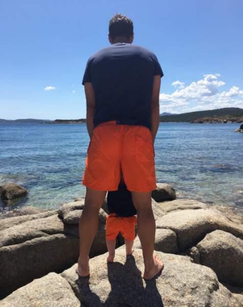 L'Albanais assiste aux premiers pas de son fils. Trop choupi !