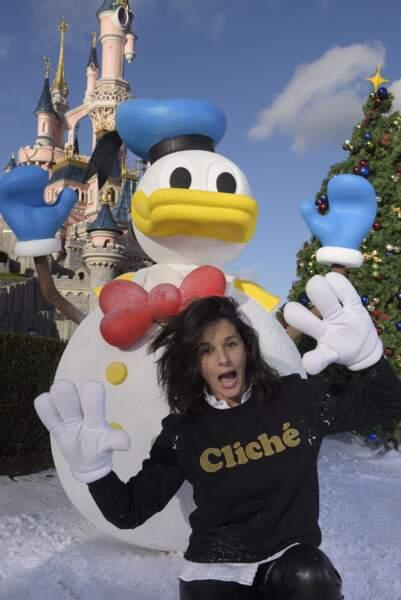 L'animatrice Faustine Bollaert est venue fêter Noel à Disneyland paris