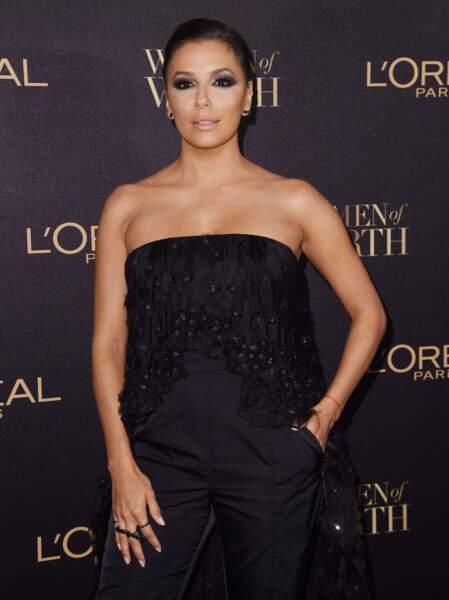 Et oui ! Eva Longoria, autre égérie L'Oréal, était elle aussi présente.