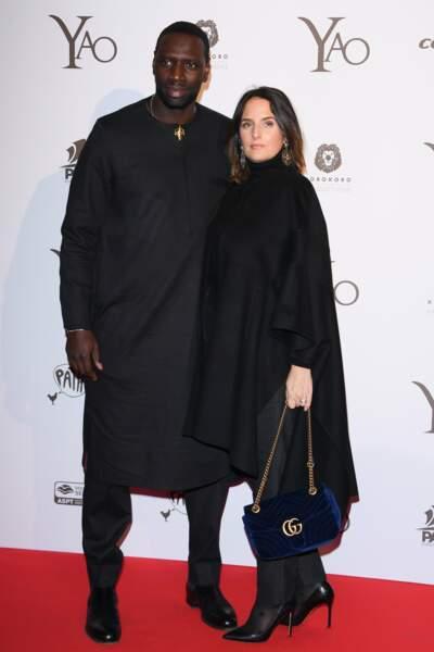 Omar Sy et sa femme Hélène à l'avant-première du film Yao dont l'acteur la star