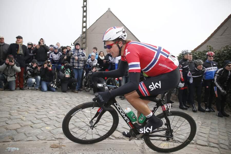 Le Norvégien Edvald Boasson Hagen, très bon rouleur, pourrait lui décrocher une étape en solitaire