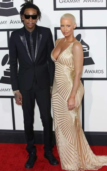 Les jeunes parents Amber Rose et Wiz Khalifa