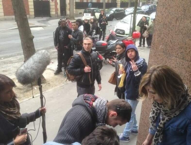 Matthieu Delormeau en tournage devant NRJ 12