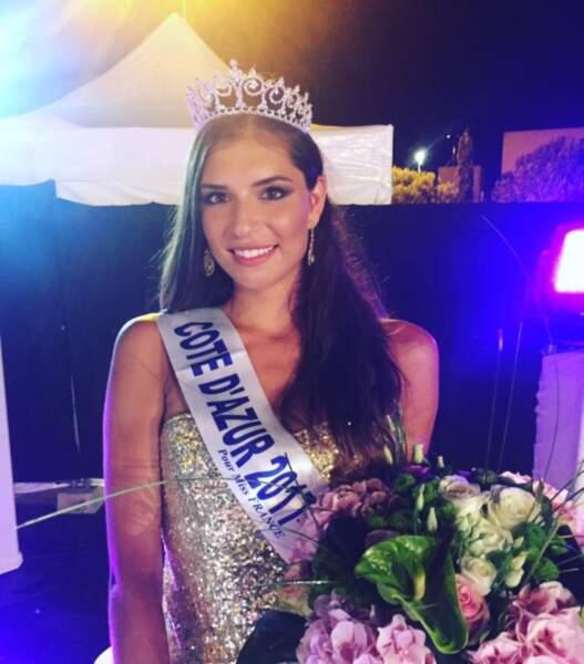 Julia Sidi Atman (21 ans) élue Miss Côte d'Azur ce lundi 31 juillet 2017