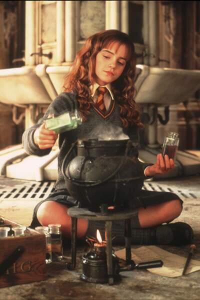 Très cultivée, Hermione a lu tous les livres de sorcellerie et est la première de la classe.