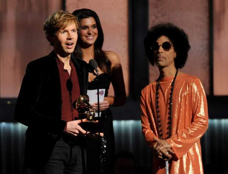 Autre grand gagnant de la soirée : Beck, ici au côté de Prince