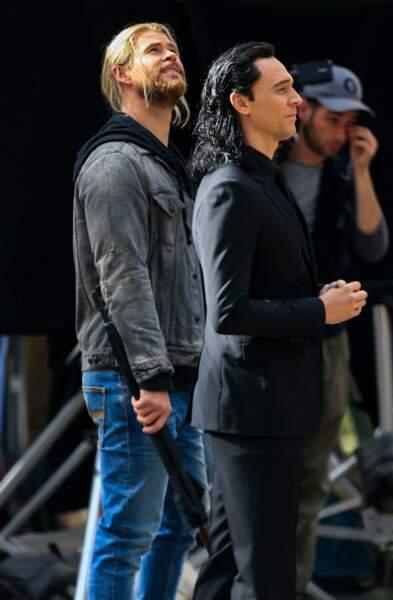 Chris Hemsworth et Tom Hiddleston à Brisbane, sur le tournage de Thor : Ragnarok