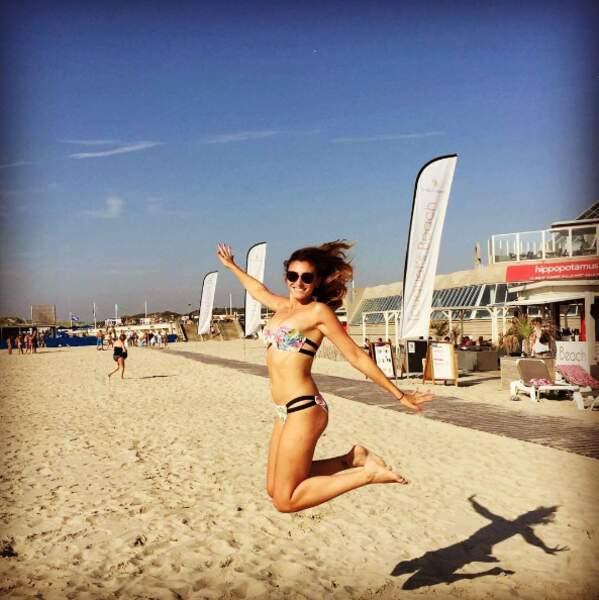 Rachel Legrain-Trapani est super contente d'être au Touquet.