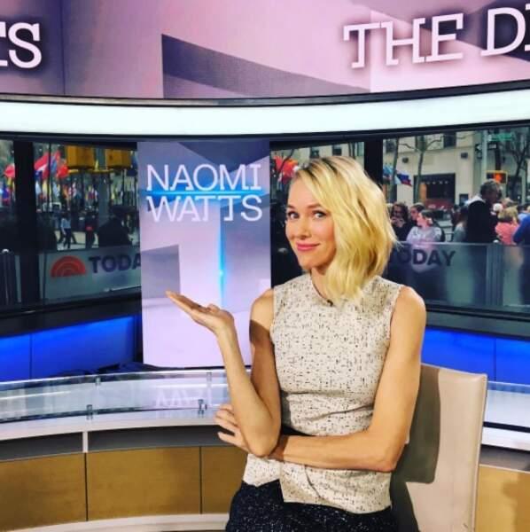 """""""Bonjour ici Naomi Watts, nous sommes en direct..."""" Terminé le cinéma et bonjour la télé ?"""