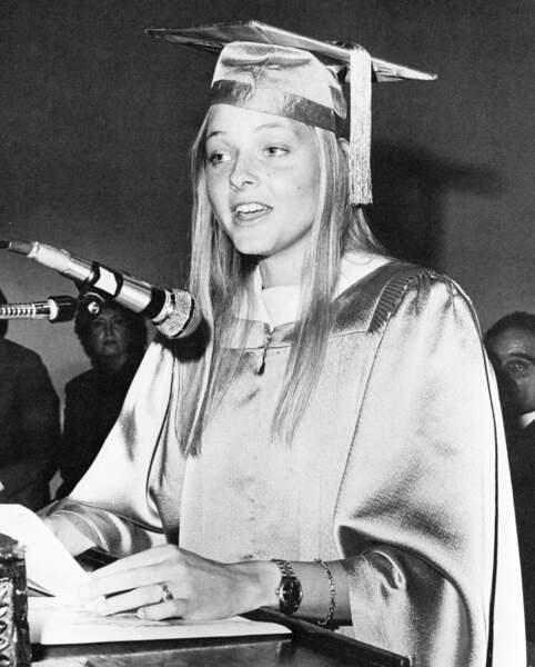 Jodie Foster en 1981 en plein discours