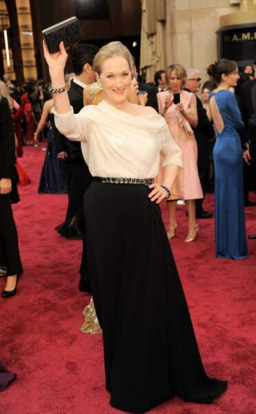 Meryl Streep, superbe, sur le tapis rouge