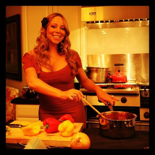 Mariah Carey sait aussi faire la cuisine