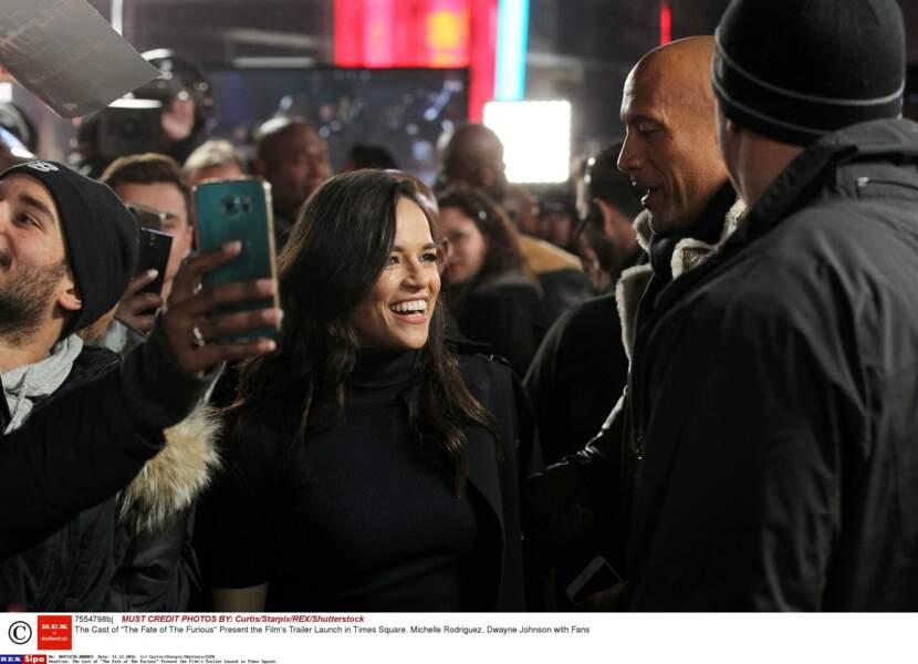 La belle Michelle Rodriguez était tout sourire !