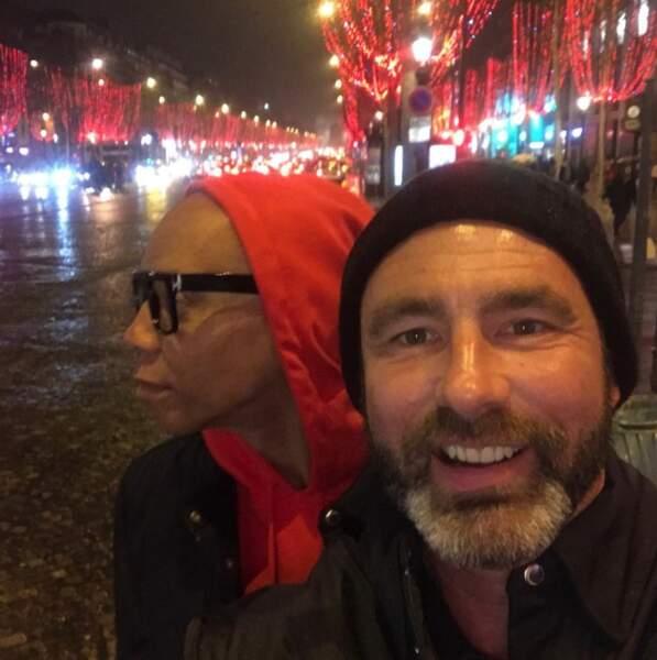 RuPaul et son mari Georges ont fait un petit tour à Paris pendant les vacances de Noël.