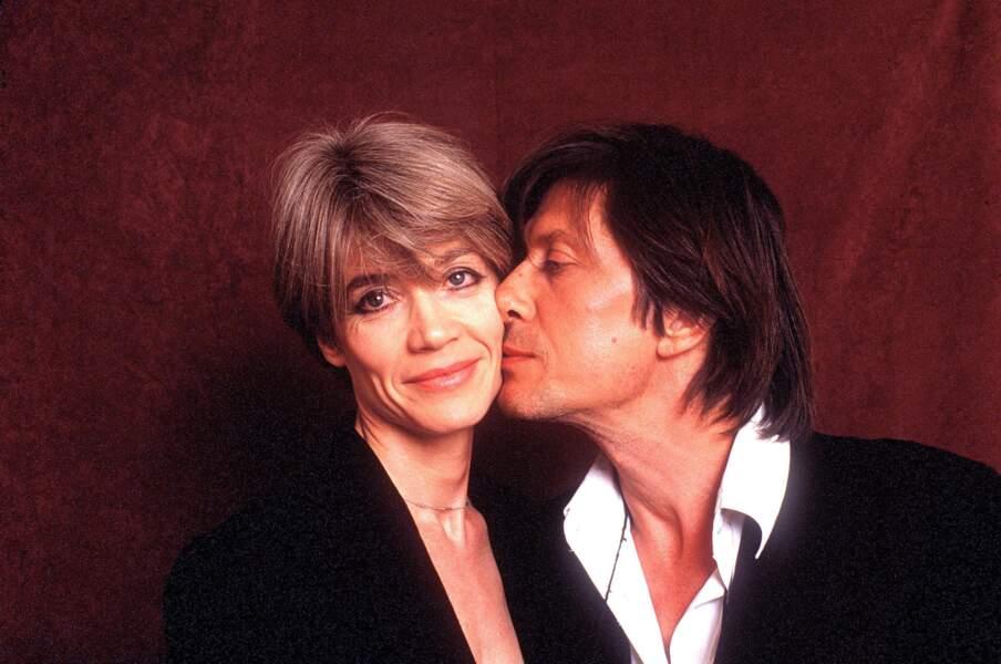 Couple culte des années 70 : Françoise Hardy et Jacques Dutronc.