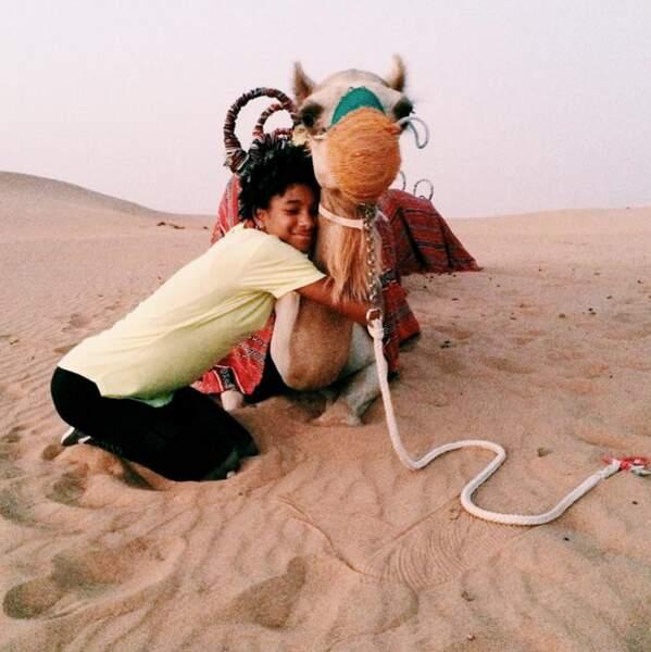 Et Willow Smith était avec un chameau.
