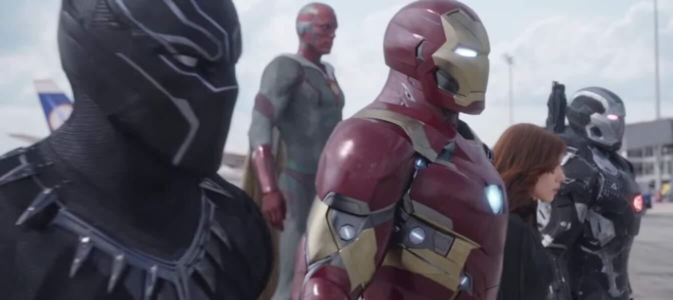 En face, on retrouve la Team Iron Man
