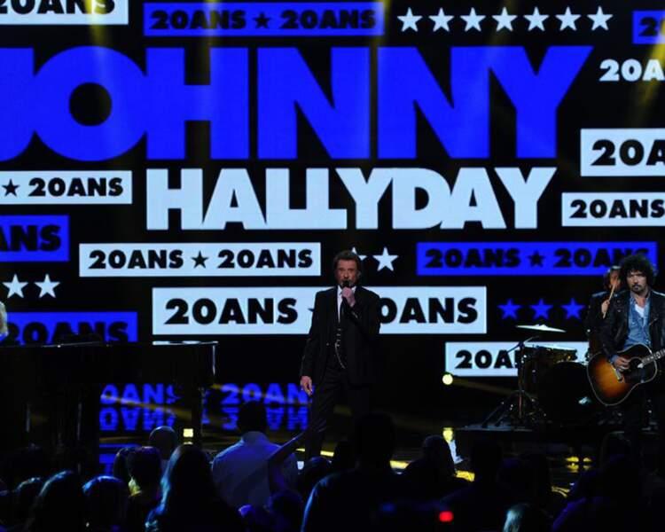 Johnny Hallyday n'était pas en direct lui non plus.